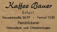 Cafe Bauer Erfurt Umschlag